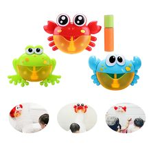 Funny Music Crab Bubble Blower Machine Electric Automatic Maker Kids Bath Outdoor Toys Bathroom Christmas Gifts
