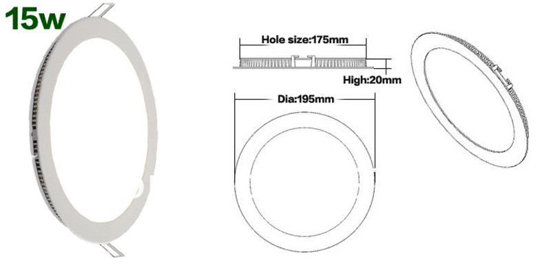 Downlight LED 15W