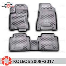 Коврики для Renault Koleos 2008 ~ 2017 rugs Нескользящие полиуретановые грязи защиты интерьер автомобиля средства укладки волос
