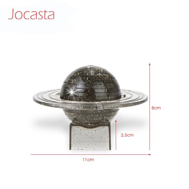 3D cristal modèle p-umétéorologique planète tridimensionnelle Saturn p-ufairy puzzle enfants enfants jouets bloc de construction maison décoration jouets [