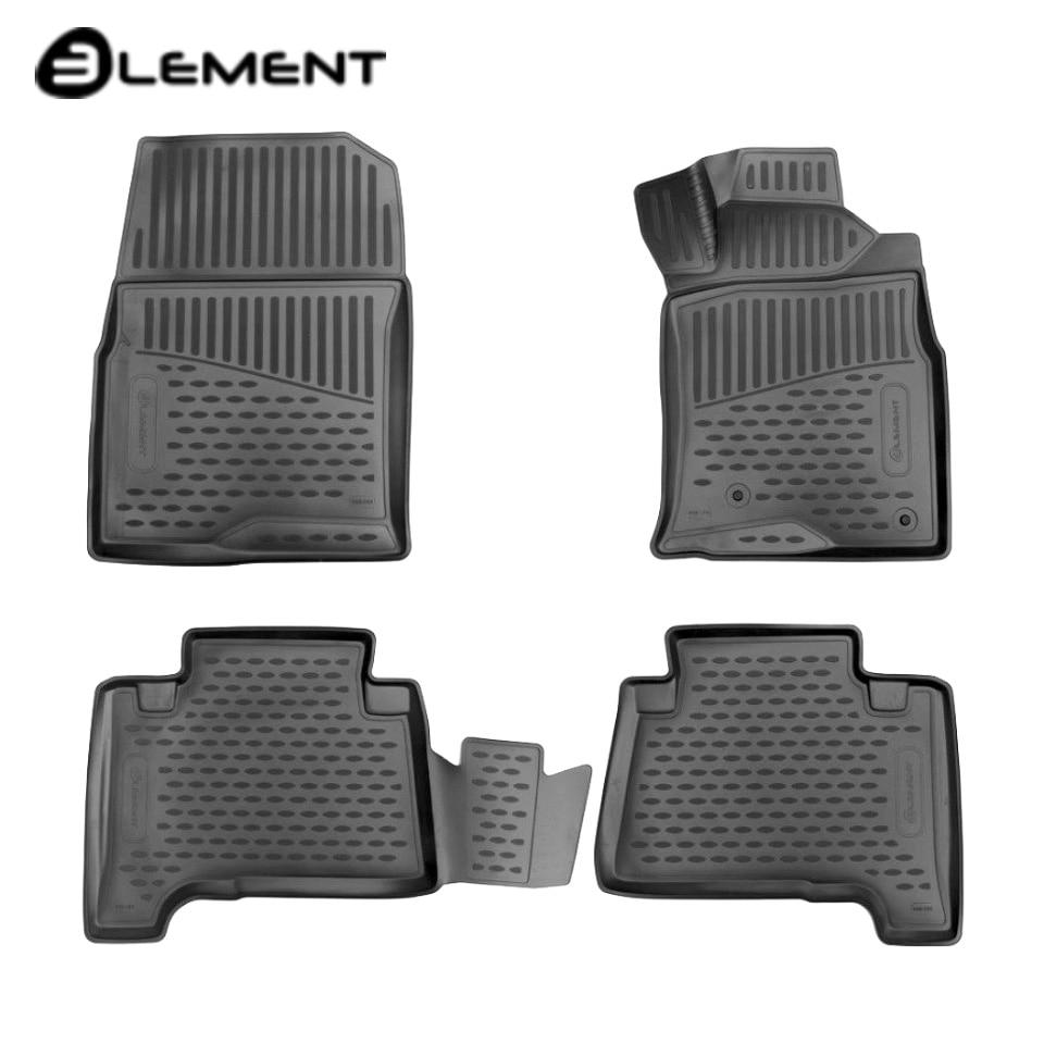 For Toyota Hilux Surf 2002-2009 3D floor mats into saloon 4 pcs/set Element ELEMENT3D48154210 цена