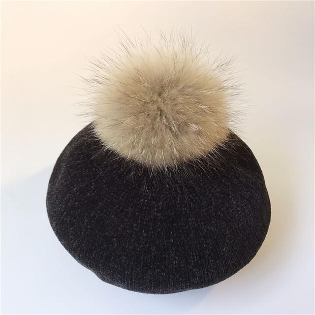 Women Beret Hat Winter...