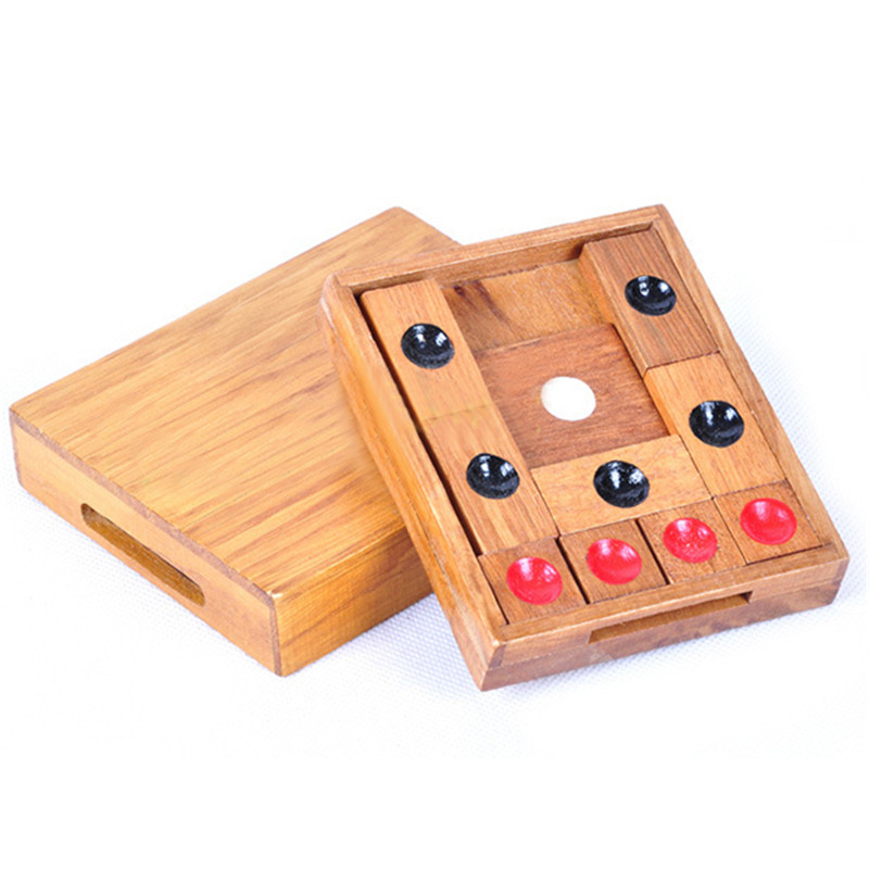 New Classic Wooden Brain Teaser Slide Escape Maze Puzzle Board Game Educational Toy for Kids and Adults