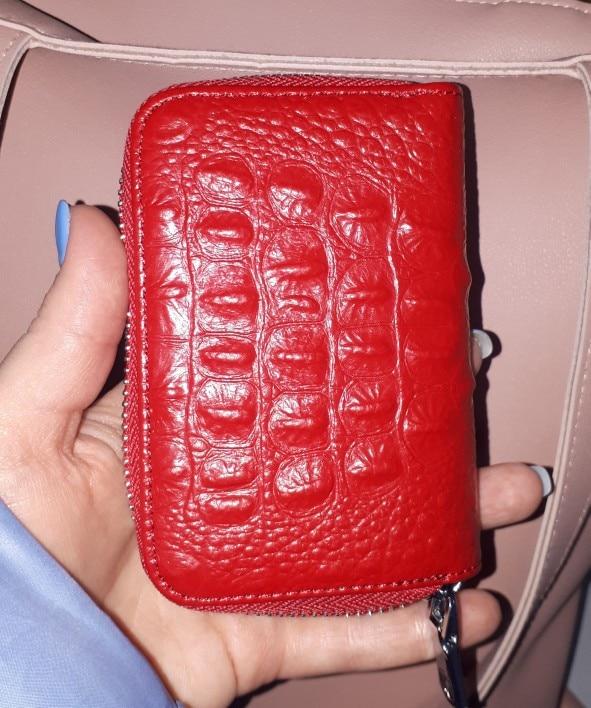 KEVIN YUN designer merk mode vrouwen creditcardhouder lederen kleine rits vrouwelijke kaart case portemonnee photo review