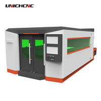 High configuration 500w 750w 1.5kw 2w fiber laser cutting machine for metal sheet round square tube cutting