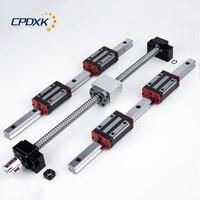 16mm ball screw SFU1605+linear guide rail HG20 300mm 2pcs + linear block HGH20CA 4pcs + supporter BK12 BF12 + coupler
