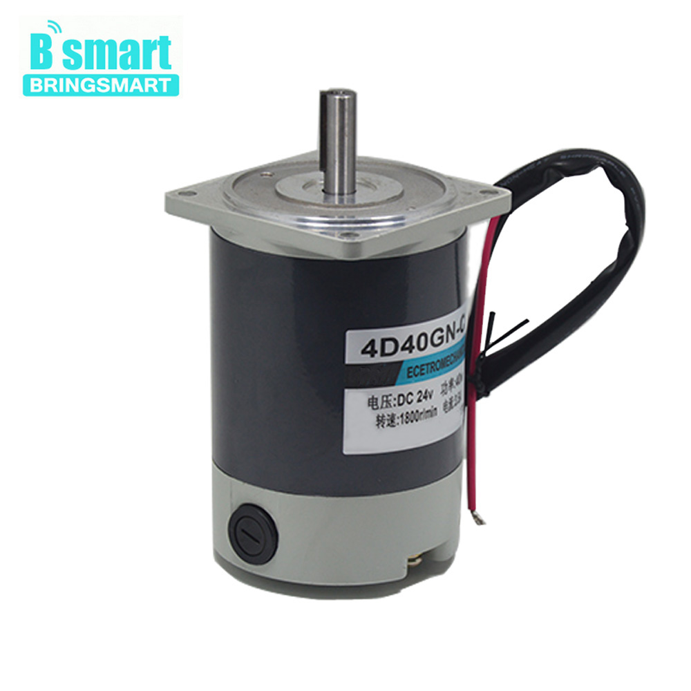 4D40GN-C Permanent Magnet Motor,Gear Motor Dc 24v With 24V 1800rpm, Torque 2.2kg.cm, Reversed And Adjust Speed,40W Home Machine 37mm dia permanent magnetic planet gear box motor 200 rpm dc 24v
