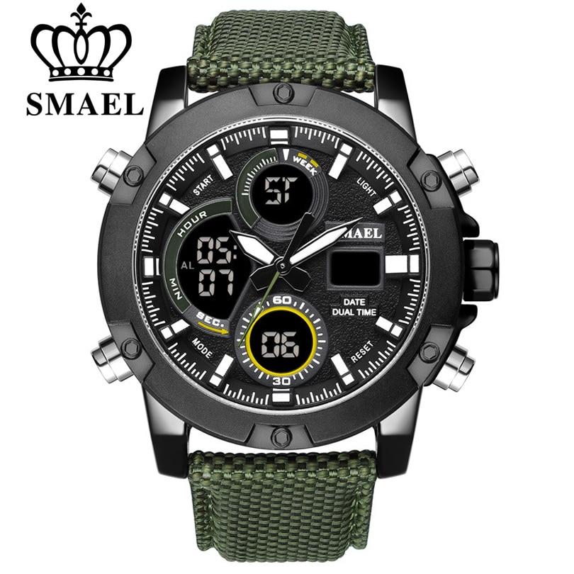SMAEL Top Brand New Watches Men Luxury Chronograph Men Sport Watches High Quality Nylon Strap Quartz Wristwatch Relogio Masculin
