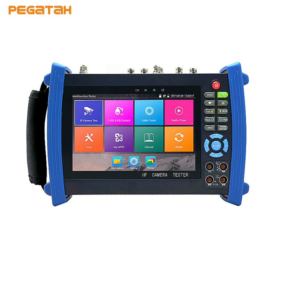 New 4K IP camera tester CVBS test monitor with Digital Multi-meter Optical power meter Visual fault cctv tester2