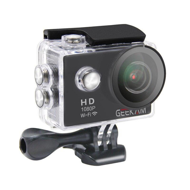 GEEKAM W9 Action camera Sports camera 1080P 30fps 720P 60FPS WIFI 170 degree bike helmet cam waterproof