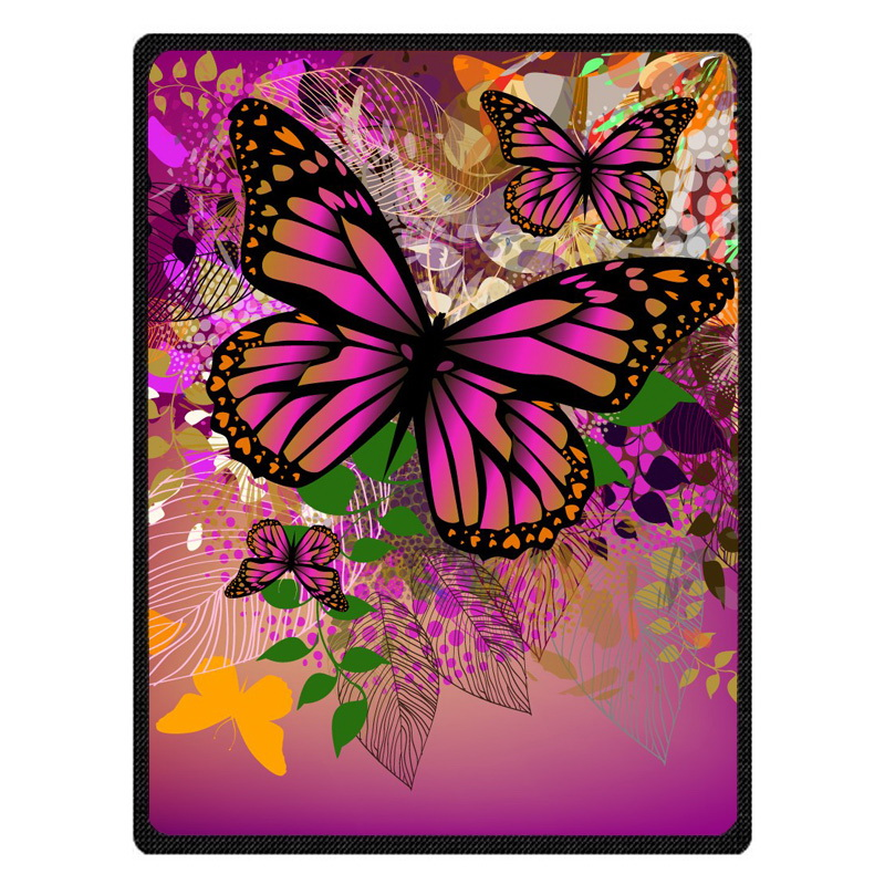 Butterfly bedspread blanket Super Soft Custom Flannel Blanket to on for the sofa/Bed/Car Portable Blankets