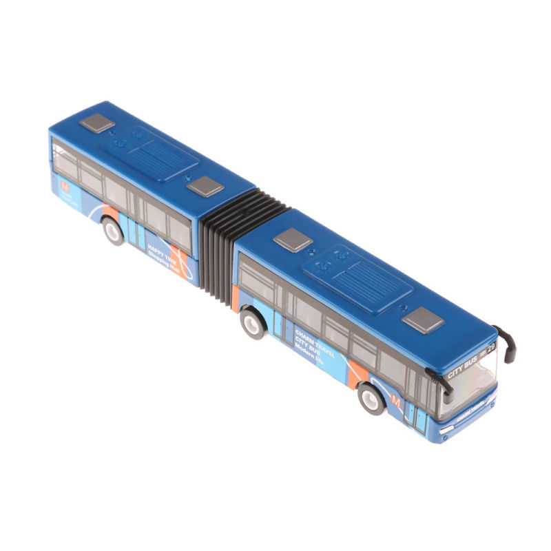 1:64 Scale 18.5cm Baby pull back shuttle bus Toy Kids diecast models Vehicle