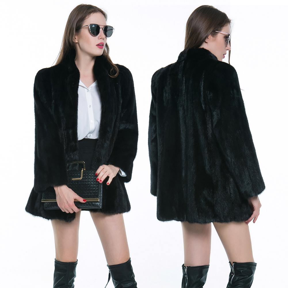 Fashion Cool font b Women b font Winter Warm Faux Fur Soft Long Sleeve Coat font