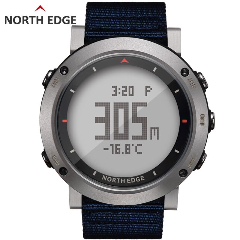 Compass Barometer Sport-Watch Digital North-Edge Hours Waterproof Running Swimming Colorful