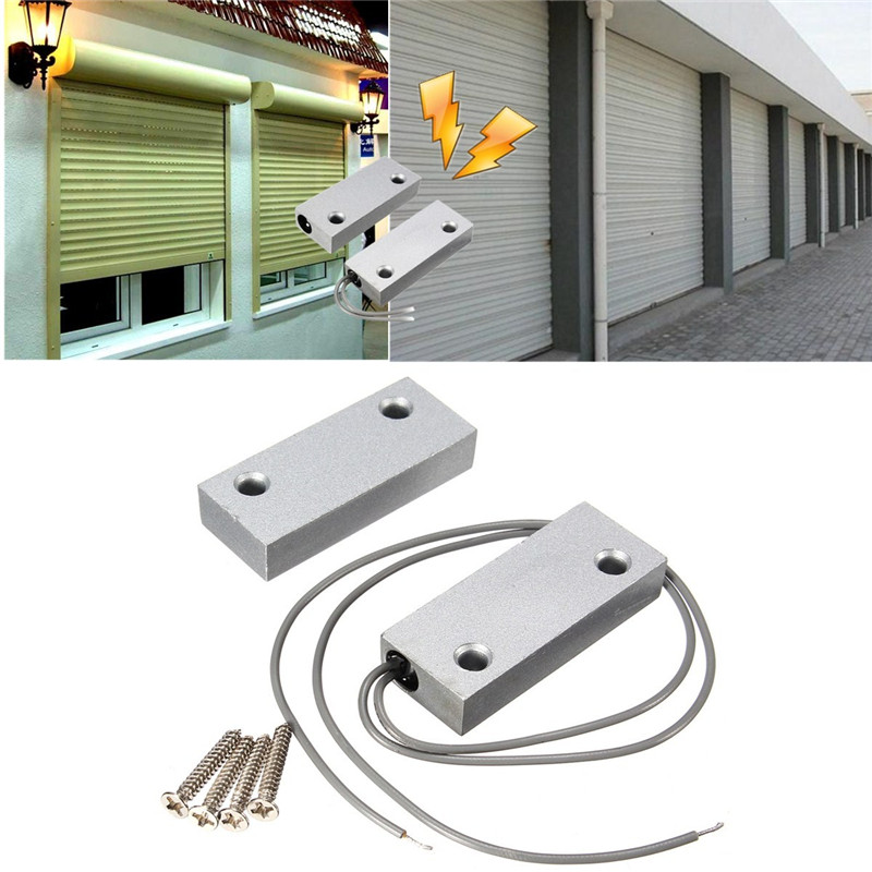 Wired Metal Roller Shutter Door Magnetic Contact Waterproof Switch Alarm NC Door Sensor for Home Alarm System wired metal roller shutter door magnetic contact switch alarm oc 55 door magnetic switch home alarm system n c type