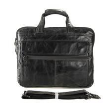 Для Мужчин's Портфели телячья кожа путешествия Бизнес 15 дюймов сумки для ноутбуков Человек кожаный Повседневное черный Портфели s через плечо Ipad сумки