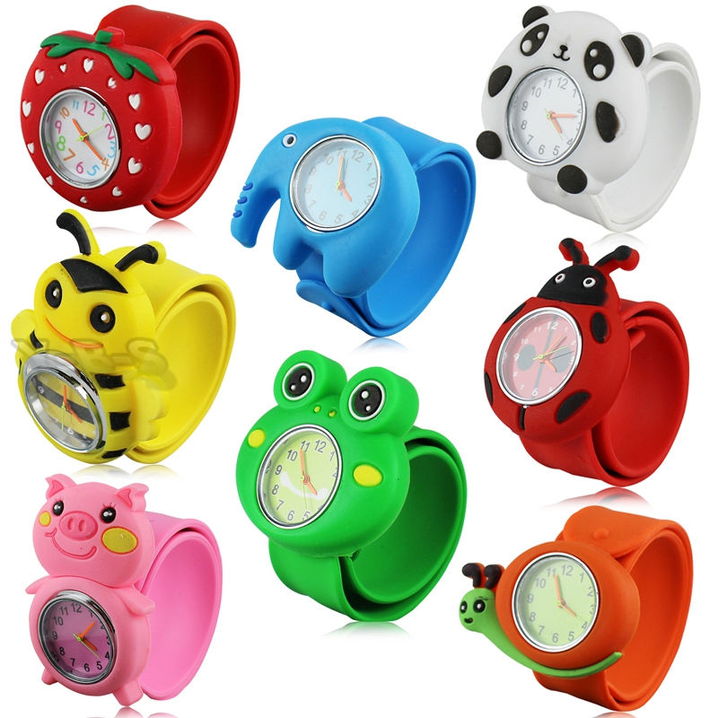 Fashion 3D Cartoon Slap Watch Sports Brand Quartz Wristwatches For Children Baby Gift Kids Student Quartz Watch Clock Relogio