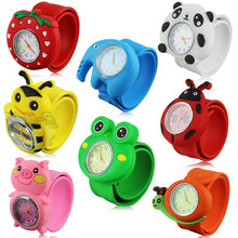 Fashion 3D Cartoon Slap Watch Sports Brand Quartz Wristwatches For Children Baby