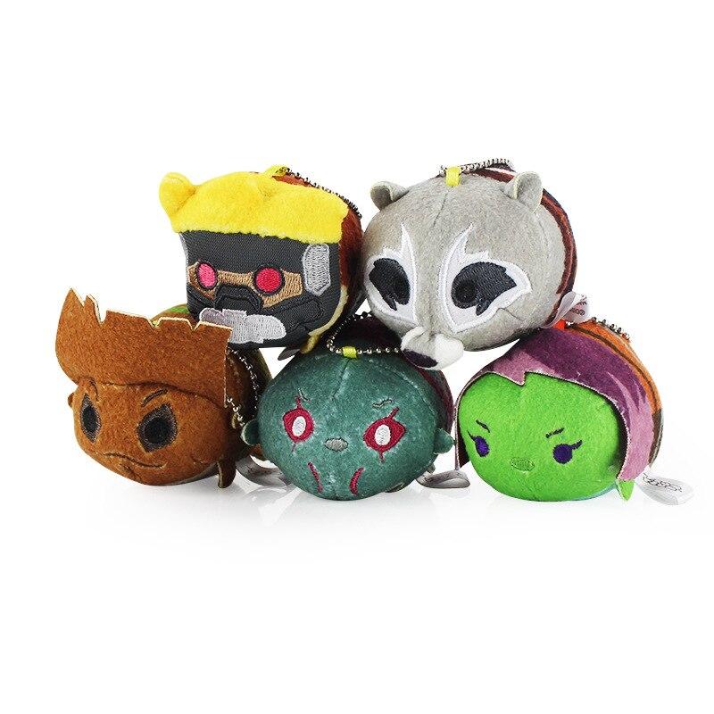 1 pcs Tsum Tsum Plush Mini 10CM Cartoon Keychain Peluche Marvel Guardians of the Galaxy Brinquedos Tree man Rocket Oyuncak Toys