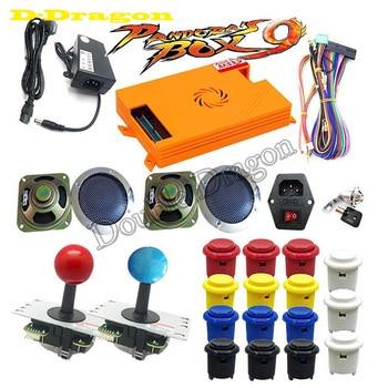 DIY Pandora Box 9 Kit 1500 En 1 PCB Con Copia De Burton Estilo Happ Sanwa Joystick Adaptador De Corriente Altavoz Para Arcade Cabinet Máquina