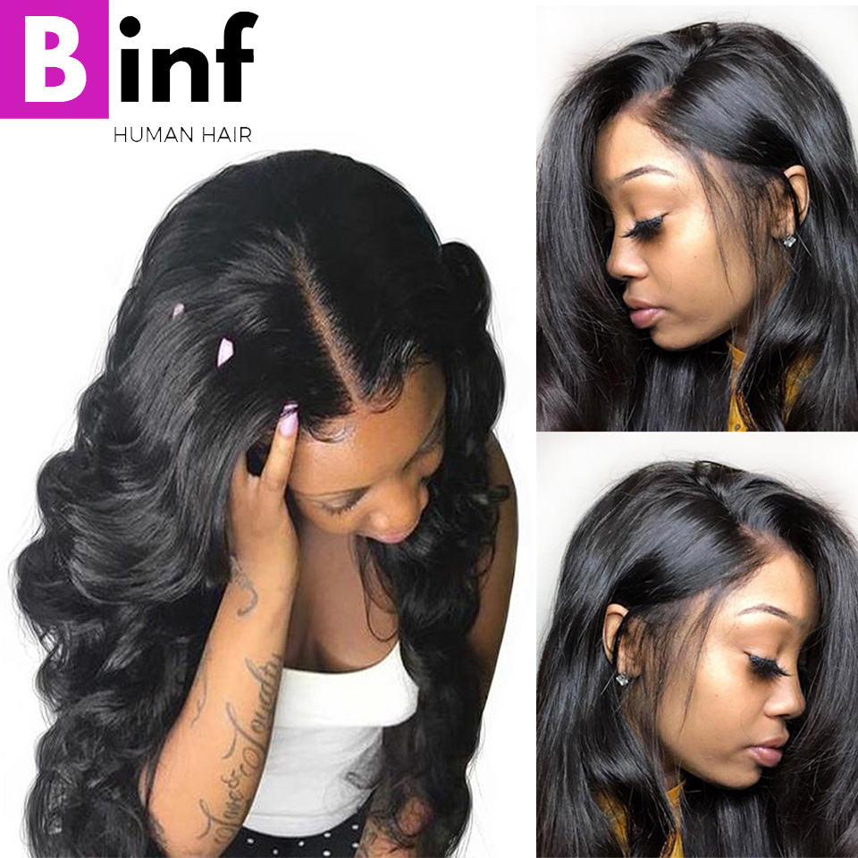 Brazilian Body Wave Lace Front Human Hair Wigs For Women Pre Plucked Hairline With Baby Hair