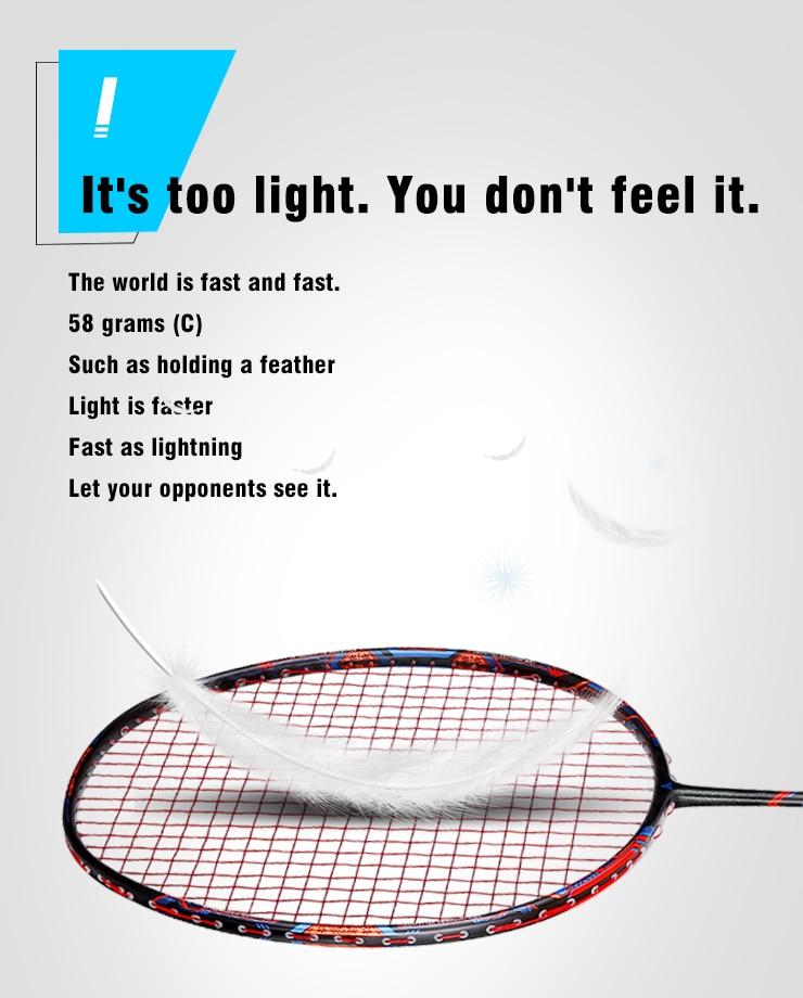 Esper 58 grama 9u raquete de badminton