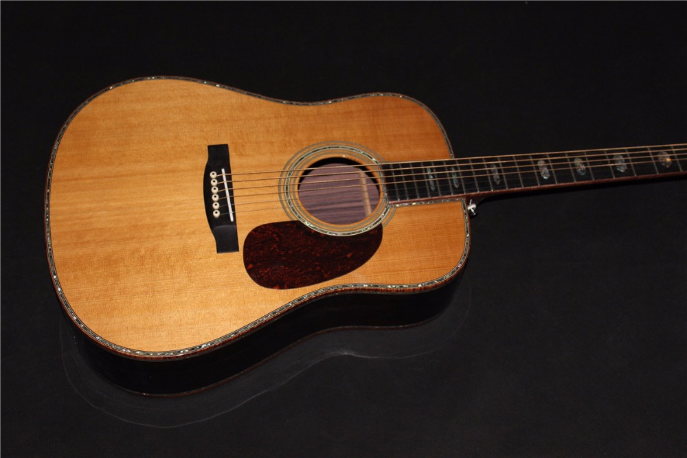 купить free shipping AAAA all solid dreadnought guitars customize Byron handmade amazing acoustic guitar онлайн