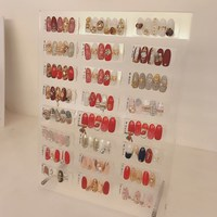 120pcs Nail Art Tips Display Rack With Magnetic Acrylic Display Board Stand Desktop Storage Holder Salon DIY Manicure Tool 2017
