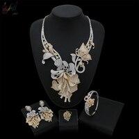 Yulaili большой роскошные свадебные украшения комплект с тысячами сердце и Стрелка кубического циркония для женщин