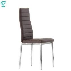 S1PUBrown Barneo S-1 Стул обеденный коричневый эко-кожа стул столовый стул мягкое сидение стул кухонный интерьерный стул хромированные ножки стул о...
