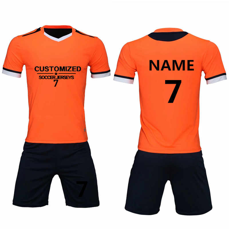 23f7532ab Men Soccer Jerseys Set Survetement Football Volleyball Sports kit Tracksuit Team  Uniforms Suit Maillot De Foot
