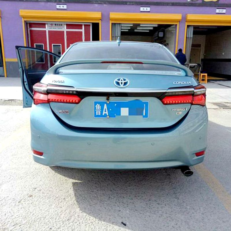 use for toyota corolla spoiler 2014-2017 Rear Wing Spoiler With Led Light ABS Material Car Rear Wing Primer Color spoiler for lancer spoiler evo abs material car rear wing primer color rear spoiler for mitsubishi lancer evo spoiler 2010 2014