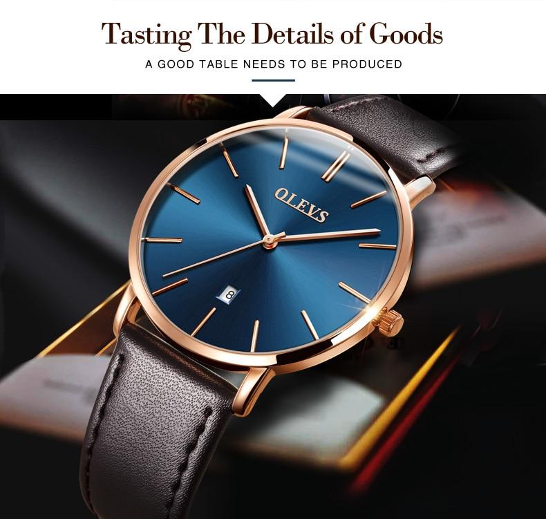 UTB8B.mbctoSdeJk43Owq6ya4XXaM 60% OFF OLEVS Men Ultra thin Watches - Top Brand Luxury Quartz Watch Men's [ New ]
