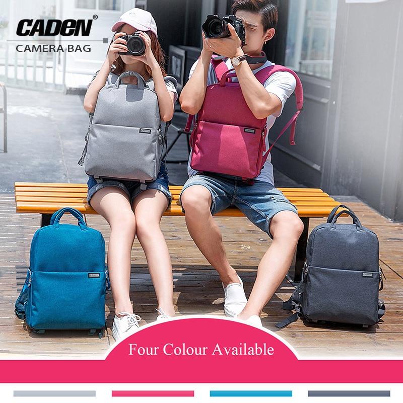CADeN Camera Case Bag Digital Camera Backpack Waterproof Laptop 14 School Travel Bags for Canon Nikon Sony Fujifilm Panasonic