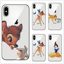 lovely Bambi And Thumper Pattern Soft Silicon TPU Phone Case Cover for iPhone 6 6S Plus 7 8 5 11 11PRO MAX SE X 10