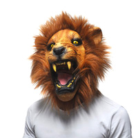Halloween Rekwizyty Zły Lion Head Maski Zwierząt Całą Twarz Party Fancy Klasyczne Kostiumy Cosplay Party Latex Scary Lion Maski