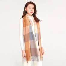woman &ladies competitive price Pashmina winter imitation cashmere plaid long  keep warm permanent colorfast fashion scarves