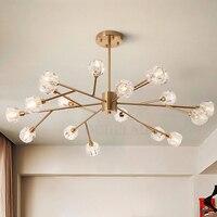 Скандинавские Модные прозрачные хрустальные подвесные лампы современные потолочные лампы для спальни ресторана G9 светодиодный железный п