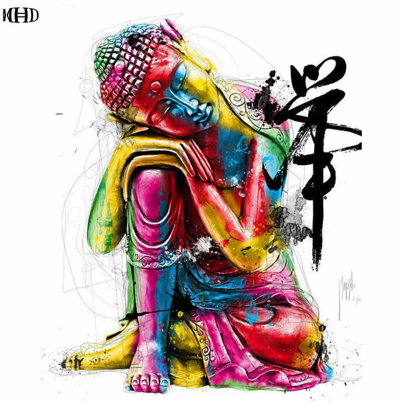 DIY Diamond Embroidery Buddha Full Diamond Painting Cross Stitch stickers Square Mosaic Pattern Needlework Home Decorative