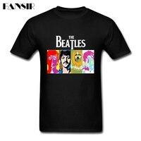 Men T Shirt Amazing Short Sleeve Crewneck Cotton Tee Shirts Men Man S The Beatles Band