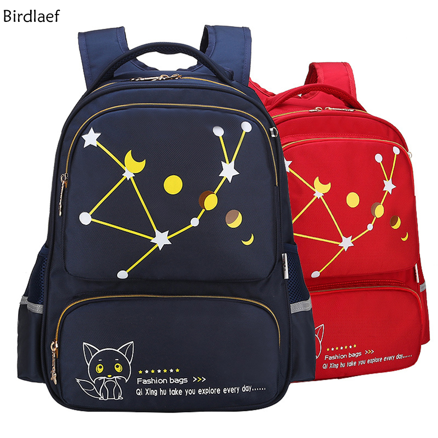 Bags for high school students - New Children Burden Backpack Junior High School Students Bag Leisure Shoulder Bag Primary School Care Ridge