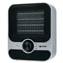 Тепловентилятор Vitek VT-1759 SR (Мощность 1500 Вт, режим вентиляции без нагрева, регулировка температуры, керамический нагревательный элемент, защита от перегрева и опрокидывания)