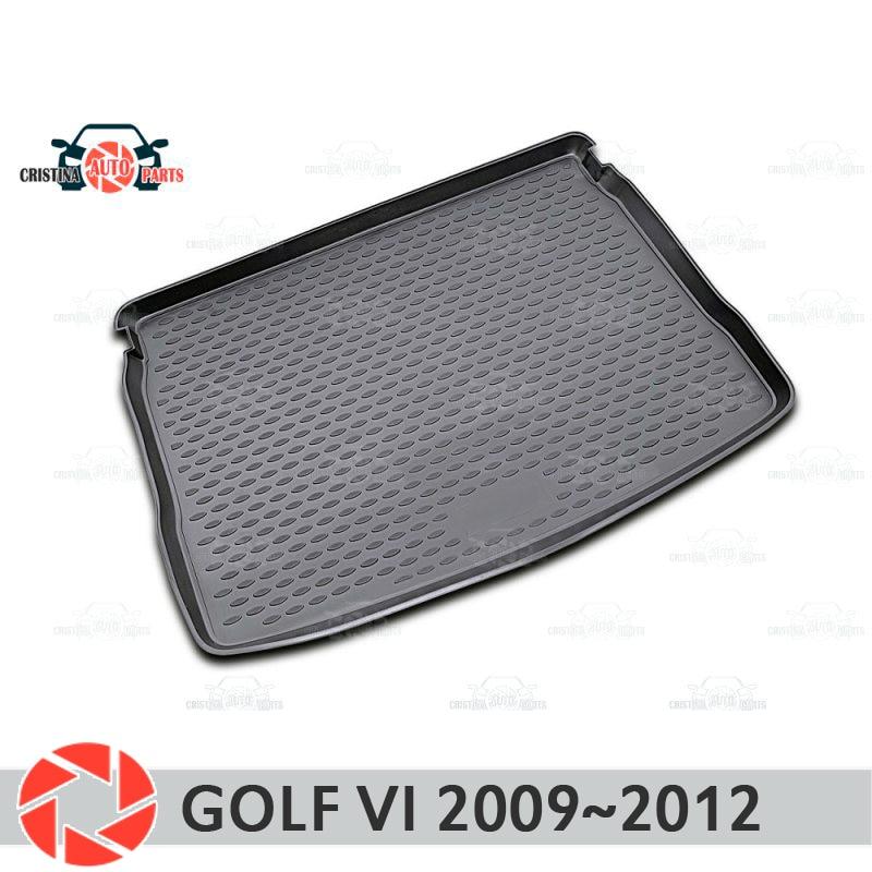 цена на Trunk mat for Volkswagen Golf 6 2009~2012 trunk floor rugs non slip polyurethane dirt protection interior trunk car styling