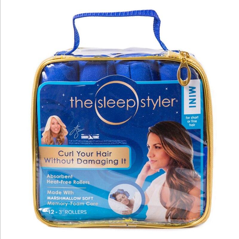 12 Pcs lot 2018 best seller Cotton Curlers Sleep Styler blue hair Roller magic hair roller