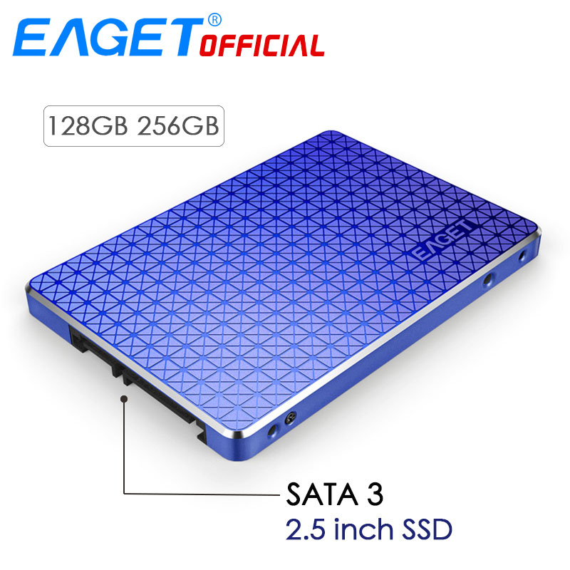EAGET 2.5 inch 256GB SSD Disk Internal Solid State Disk HD SSD Hard Drive SATA 3 High Speed 128GB Shockproof HDD For Mac Laptop