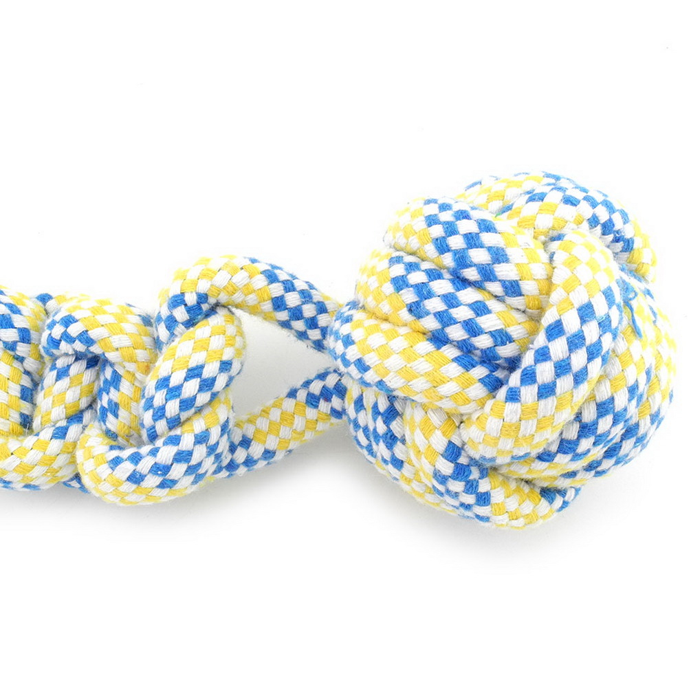 2017 Medium Large Dog/Cat Rope Toys Tug-o-War for Aggressive Chewers Ball On the Rope Puppy Ball Toys