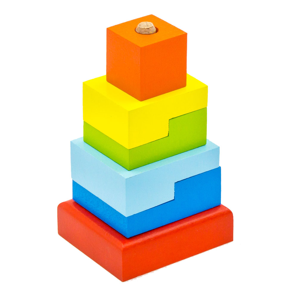 Magic Cubes Alatoys PCT03 play building block set pyramid cube toys for boys girls abc