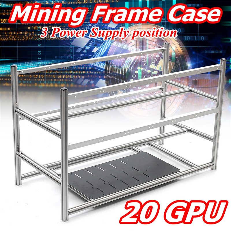 Open Air Aluminum Stackable Box Mining Platform 20GPU Outdoor Frame With 24 Fan Position ETH / ZEC / Bitcoin