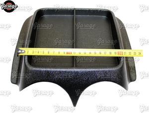 Image 3 - קונסולת על פנל קדמי עבור רנו Sandero 2009 2013 ABS פלסטיק ארגונית פונקצית כרית אביזרי סריטות רכב סטיילינג כוונון