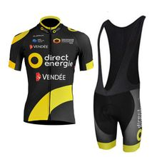 a82e7f107 2018 pro team direct energie black cycling jersey kits mens summer bike  cloth MTB Ropa Ciclismo Bicycle maillot gel pad-in Cycling Sets from Sports  ...